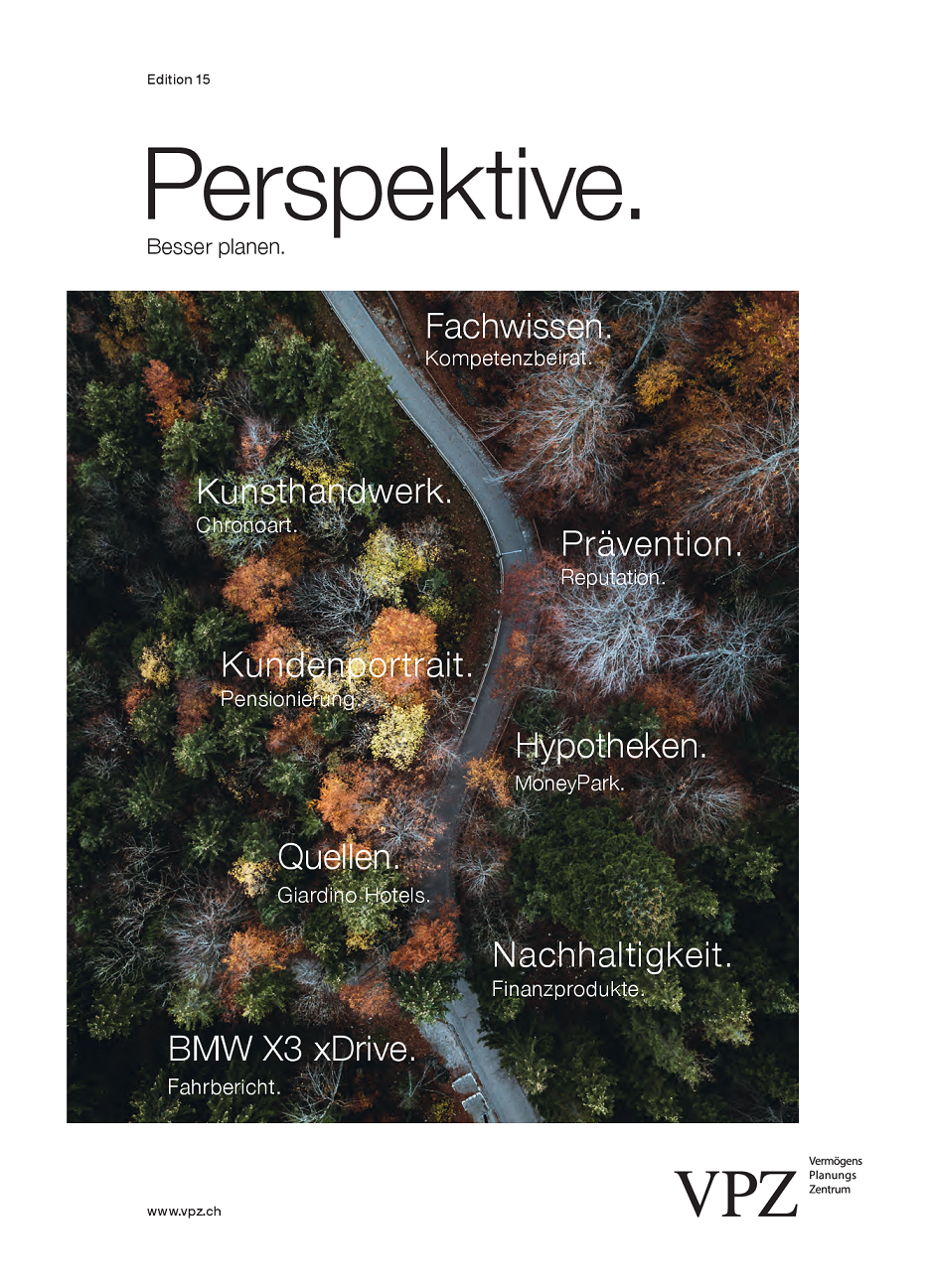 VPZ Kundenmagazin Perspektive. 15